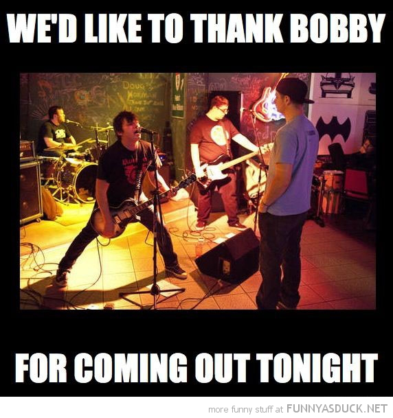 Music-gig-one-person-crowd-thank-bobby-f